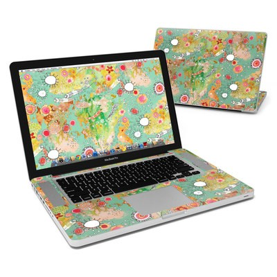 MacBook Pro 15in Skin - Feathers Flowers Showers