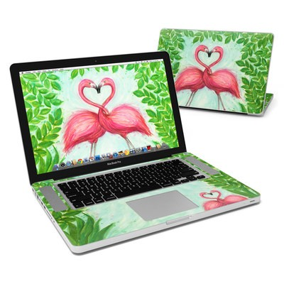 MacBook Pro 15in Skin - Flamingo Love