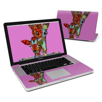 MacBook Pro 15in Skin - Giraffe Love