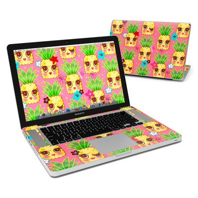 MacBook Pro 15in Skin - Happy Kawaii Pineapples