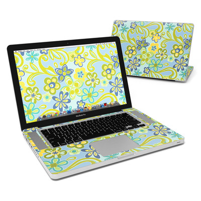MacBook Pro 15in Skin - Hippie Flowers Blue