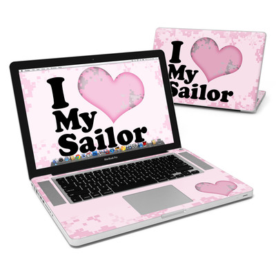 MacBook Pro 15in Skin - I Love My Sailor