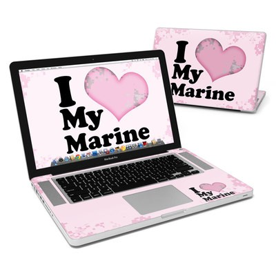MacBook Pro 15in Skin - I Love My Marine