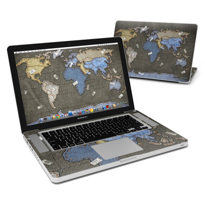 MacBook Pro 15in Skin - Jean Map