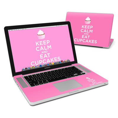 MacBook Pro 15in Skin - Keep Calm - Cupcakes