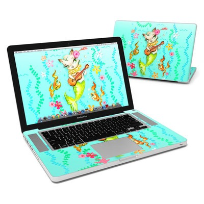 MacBook Pro 15in Skin - Merkitten with Ukelele
