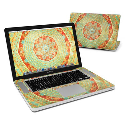 MacBook Pro 15in Skin - Mandala Citrus