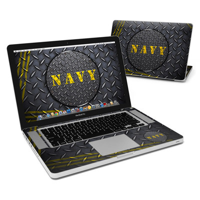 MacBook Pro 15in Skin - Navy Diamond Plate