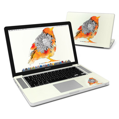 MacBook Pro 15in Skin - Orange Bird