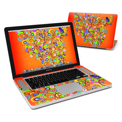 MacBook Pro 15in Skin - Orange Squirt