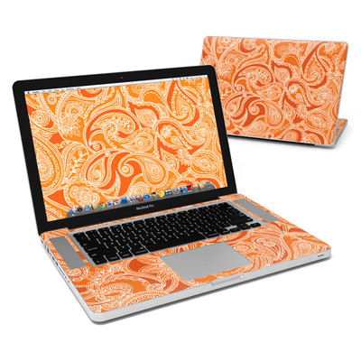 MacBook Pro 15in Skin - Paisley In Orange