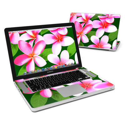 MacBook Pro 15in Skin - Pink Plumerias