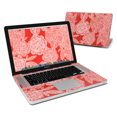 MacBook Pro 15in Skin - Red Dahlias
