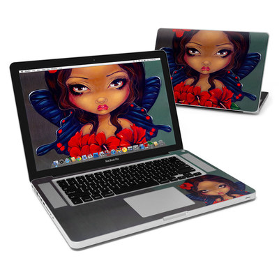 MacBook Pro 15in Skin - Red Hibiscus Fairy