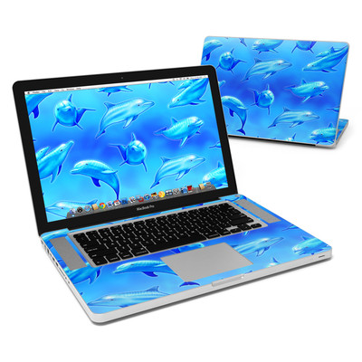 MacBook Pro 15in Skin - Swimming Dolphins