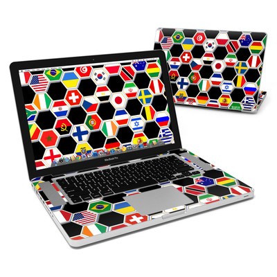 MacBook Pro 15in Skin - Soccer Flags