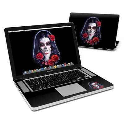MacBook Pro 15in Skin - Sugar Skull Rose