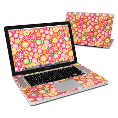MacBook Pro 15in Skin - Flowers Squished