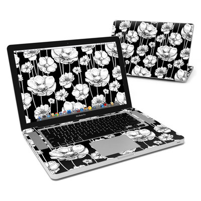 MacBook Pro 15in Skin - Striped Blooms