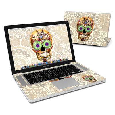 MacBook Pro 15in Skin - Sugar Skull Bone