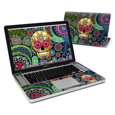 MacBook Pro 15in Skin - Sugar Skull Paisley