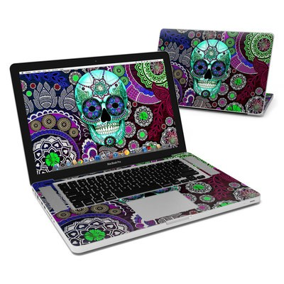 MacBook Pro 15in Skin - Sugar Skull Sombrero