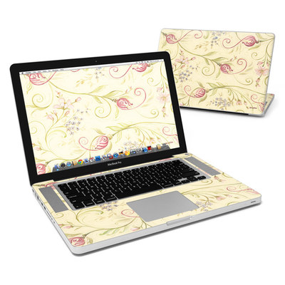 MacBook Pro 15in Skin - Tulip Scroll