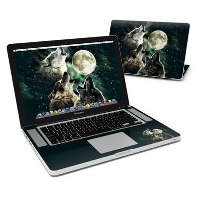 MacBook Pro 15in Skin - Three Wolf Moon