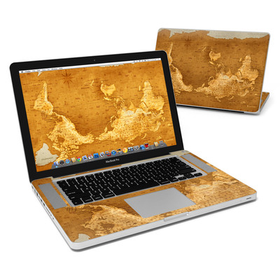 MacBook Pro 15in Skin - Upside Down Map