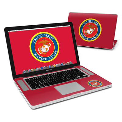 MacBook Pro 15in Skin - USMC Red