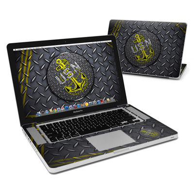 MacBook Pro 15in Skin - USN Diamond Plate