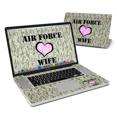 MacBook Pro 17in Skin - Air Force Wife