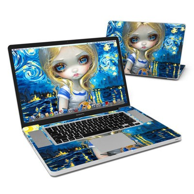 MacBook Pro 17in Skin - Alice in a Van Gogh