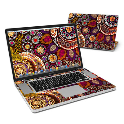 MacBook Pro 17in Skin - Autumn Mehndi