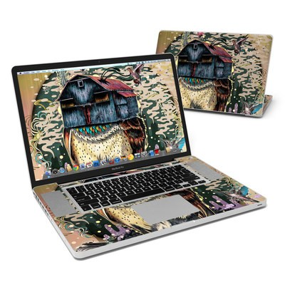 MacBook Pro 17in Skin - Barn Owl Fortune