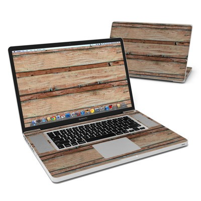 MacBook Pro 17in Skin - Boardwalk Wood