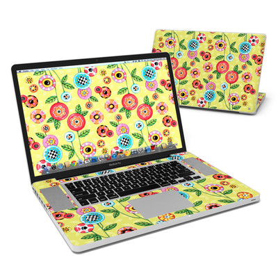 MacBook Pro 17in Skin - Button Flowers