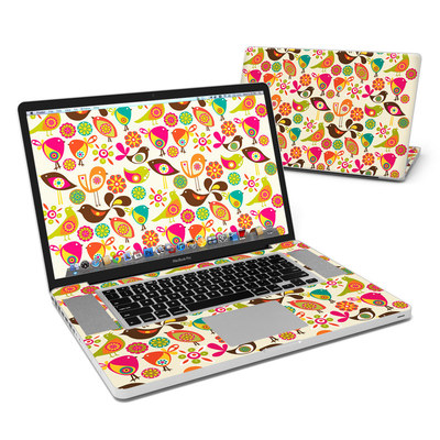 MacBook Pro 17in Skin - Bird Flowers