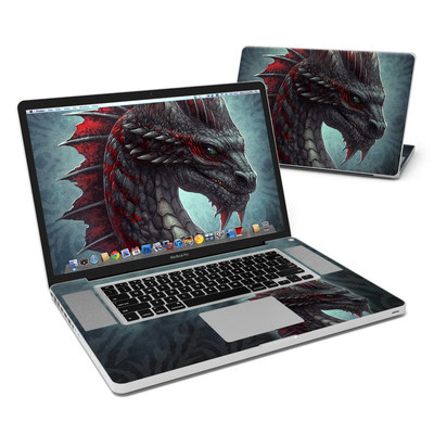 MacBook Pro 17in Skin - Black Dragon