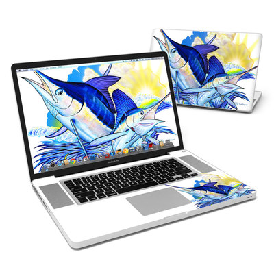 MacBook Pro 17in Skin - Blue White and Yellow