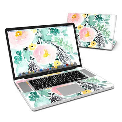 MacBook Pro 17in Skin - Blushed Flowers