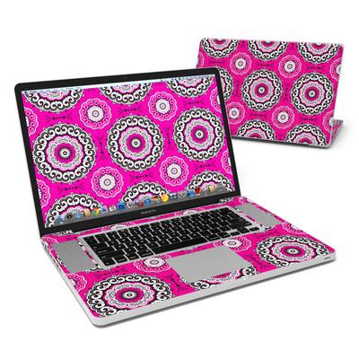MacBook Pro 17in Skin - Boho Girl Medallions