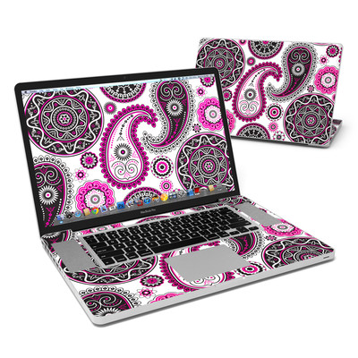 MacBook Pro 17in Skin - Boho Girl Paisley