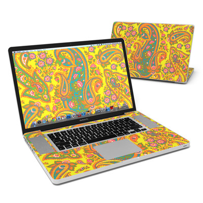MacBook Pro 17in Skin - Bombay Chartreuse