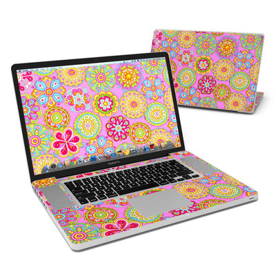 MacBook Pro 17in Skin - Bright Flowers