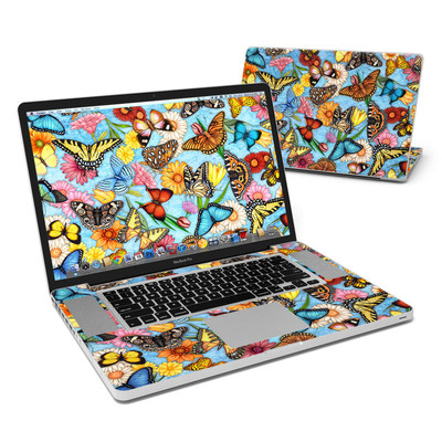 MacBook Pro 17in Skin - Butterfly Land
