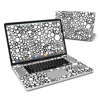 MacBook Pro 17in Skin - BW Bubbles