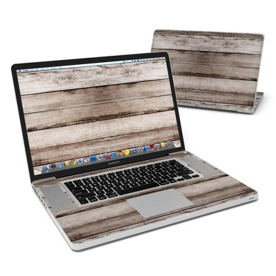 MacBook Pro 17in Skin - Barn Wood
