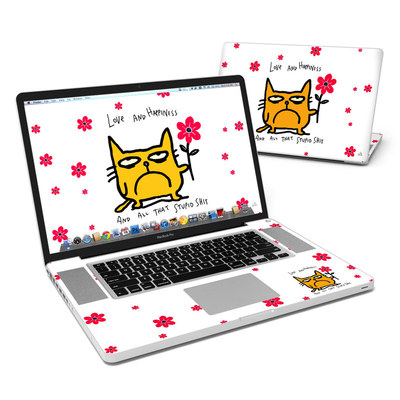 MacBook Pro 17in Skin - Catwad Happy