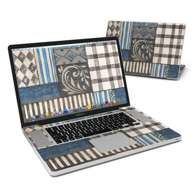 MacBook Pro 17in Skin - Country Chic Blue